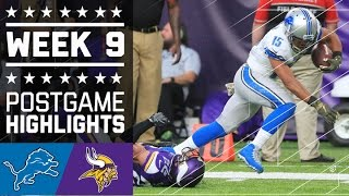 Lions vs. Vikings (Week 9) | Game Highlights | NFL