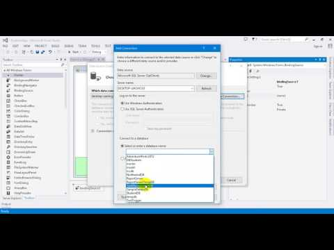 Advanced C# Tutorial 23 2 Project5 How to using BindingSource to get data from datasource in Visual