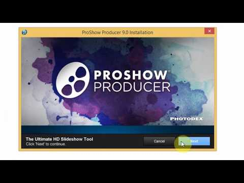 hướng dẫn cài đặt và crack proshow 9.0