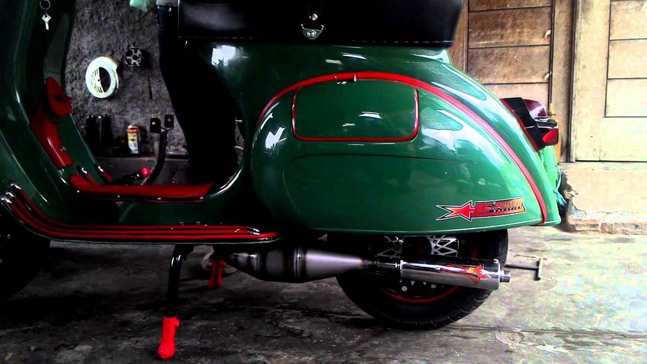 Knalpot vespa racing kiri new speed racing exhaust by new speed racing