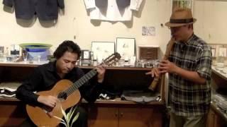 Spring Sea Shakuhachi&Guitar 尺八&ギター Live at Miharudo Gallery