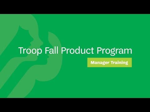 Troop Fall Product Program Manager Training