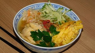 Суп с лапшой по азиатски.