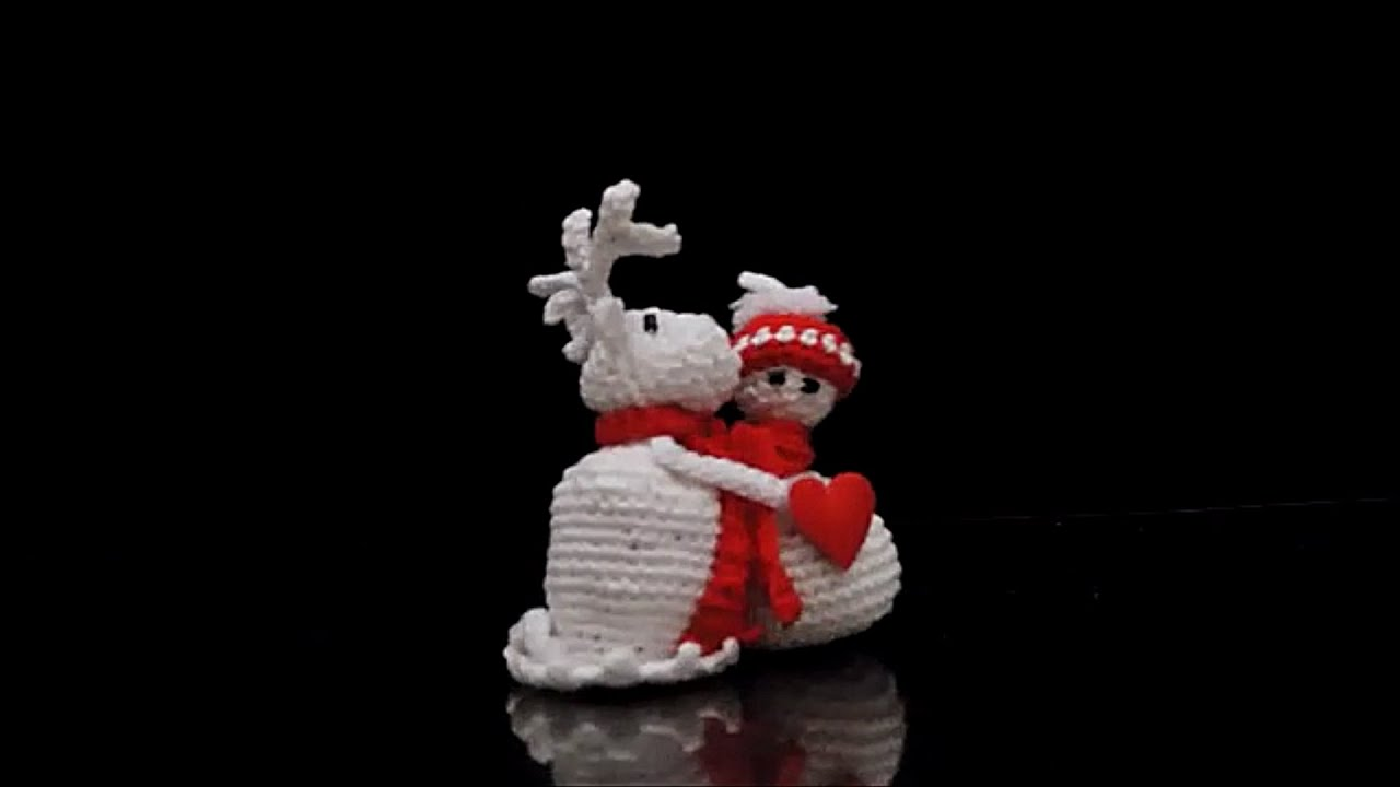 True Love Schneemann Und Rentier Häkeln Crochet Youtube
