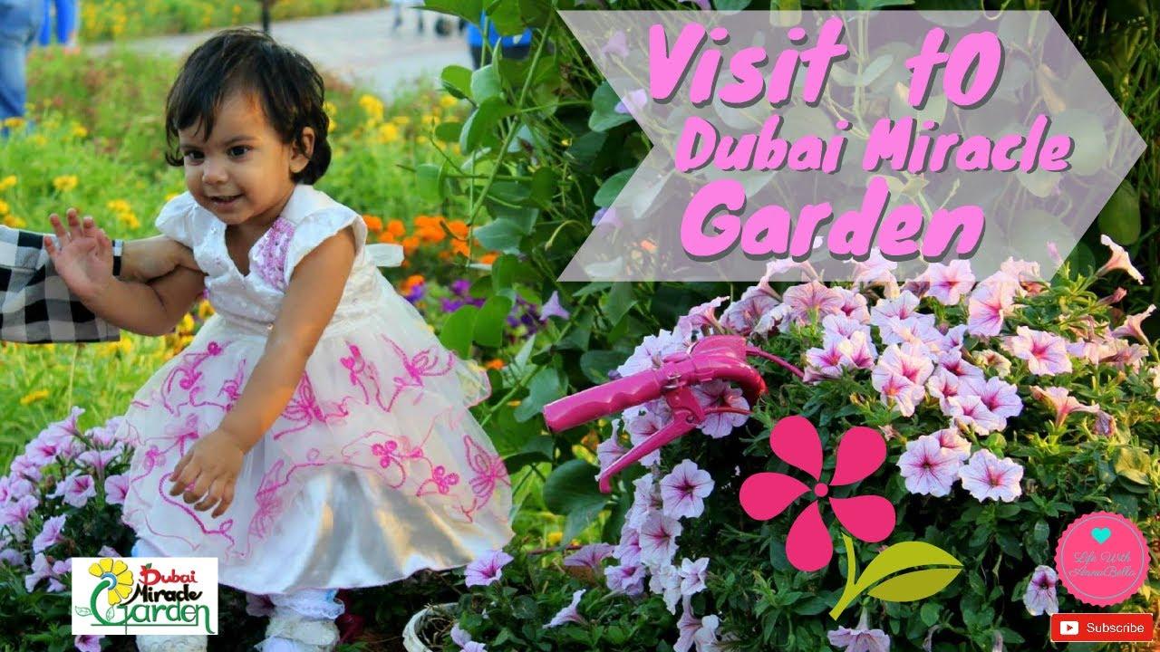 Bella Visit to Dubai Miracle Garden   Dubai   DMG   UAE   Kids Traveler
