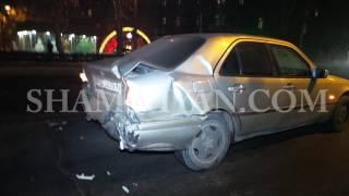 Խոշոր ավտովթար Երևանում  «Կրպակ» սուպերմարկետի մոտ բախվել են 07 ը, Mercedes ն ու Mitsubishi ն