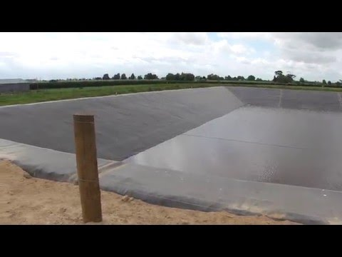 Completed Dairy Effluent Pond - Brudon Farms, Waikato Dairy Farm of the  Year 2012