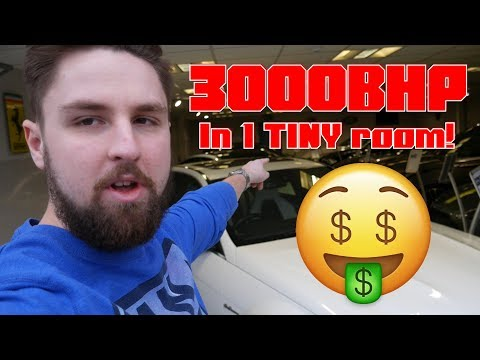 Over 3000BHP in a TINY showroom?!