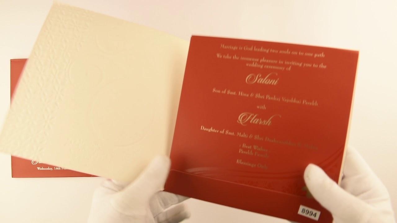 PSKU00095662, Hindu Wedding Invitations, Hindu Shaadi Cards Online ...