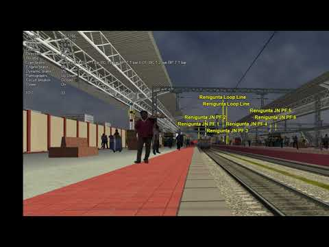 MSTS Indian Railways | Open Rails | SBC(KSR) Bangalore - Kakinada town Seshadri Express