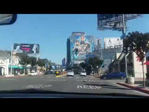 Black Panther Biggest Billboard in the World on Sunset Blvd, Hollywood,California