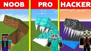 Minecraft NOOB vs PRO vs HACKER : GIRL HIDDEN TRAP CHALLENGE in minecraft / Animation