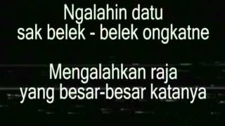 Lagu Sasak (Lombok) - Inaq Tegining Amaq Teganang