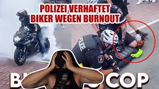 POLIZEI verhaftet BIKER für einen BURNOUT! | Kuhlewu reagiert
