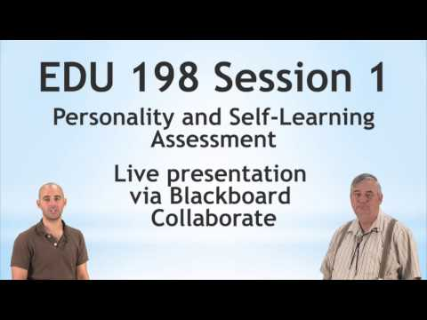EDU 198: Personality and Self-Learning Assessment