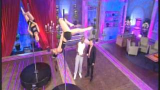 Pole Dancing on Alan Titchmarsh: Justine McLucas and Anna Achren-Carvalho, 29 Nov 2010