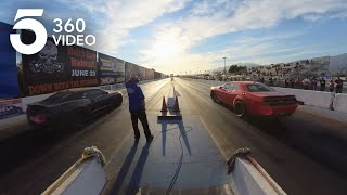 Barrel Down a Drag Strip at Irwindale Speedway in 360