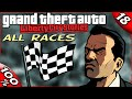 GTA LCS [:18:] ALL Races in the Game [100% Walkthrough]