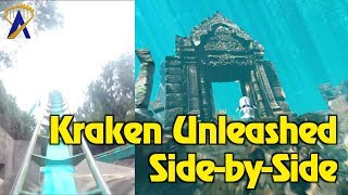 Kraken Unleashed Side-by-Side Comparison POV - SeaWorld Orlando