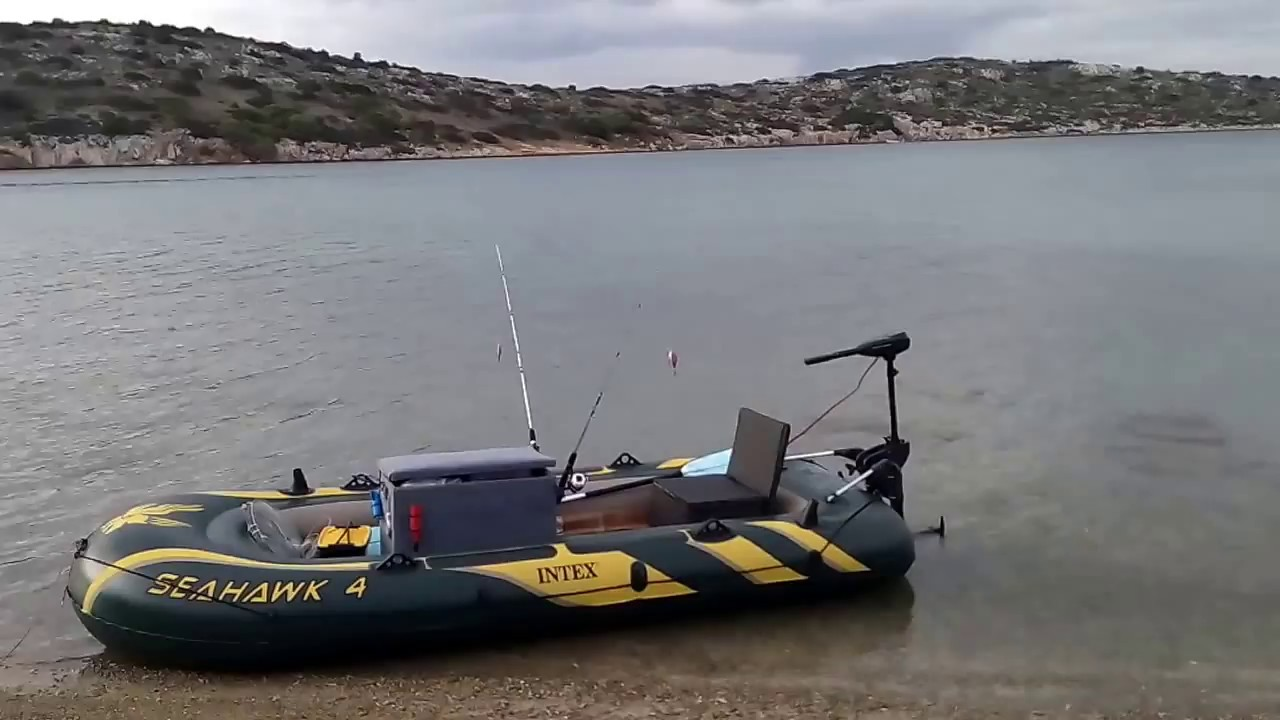 3 40m intex seahawk 4 fishing boat youtube for Seahawk fishing boat