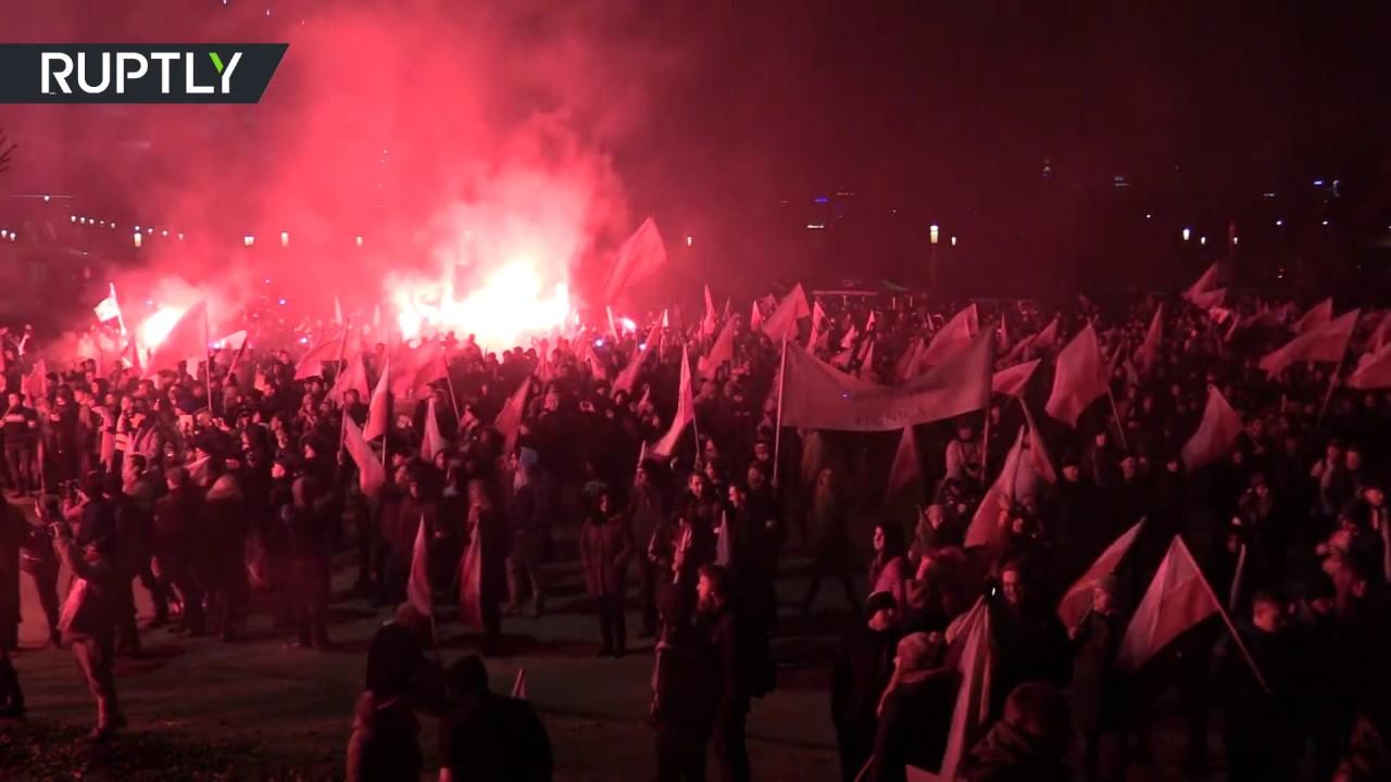 Польские националисты устроили многотысячный марш в День независимости страны