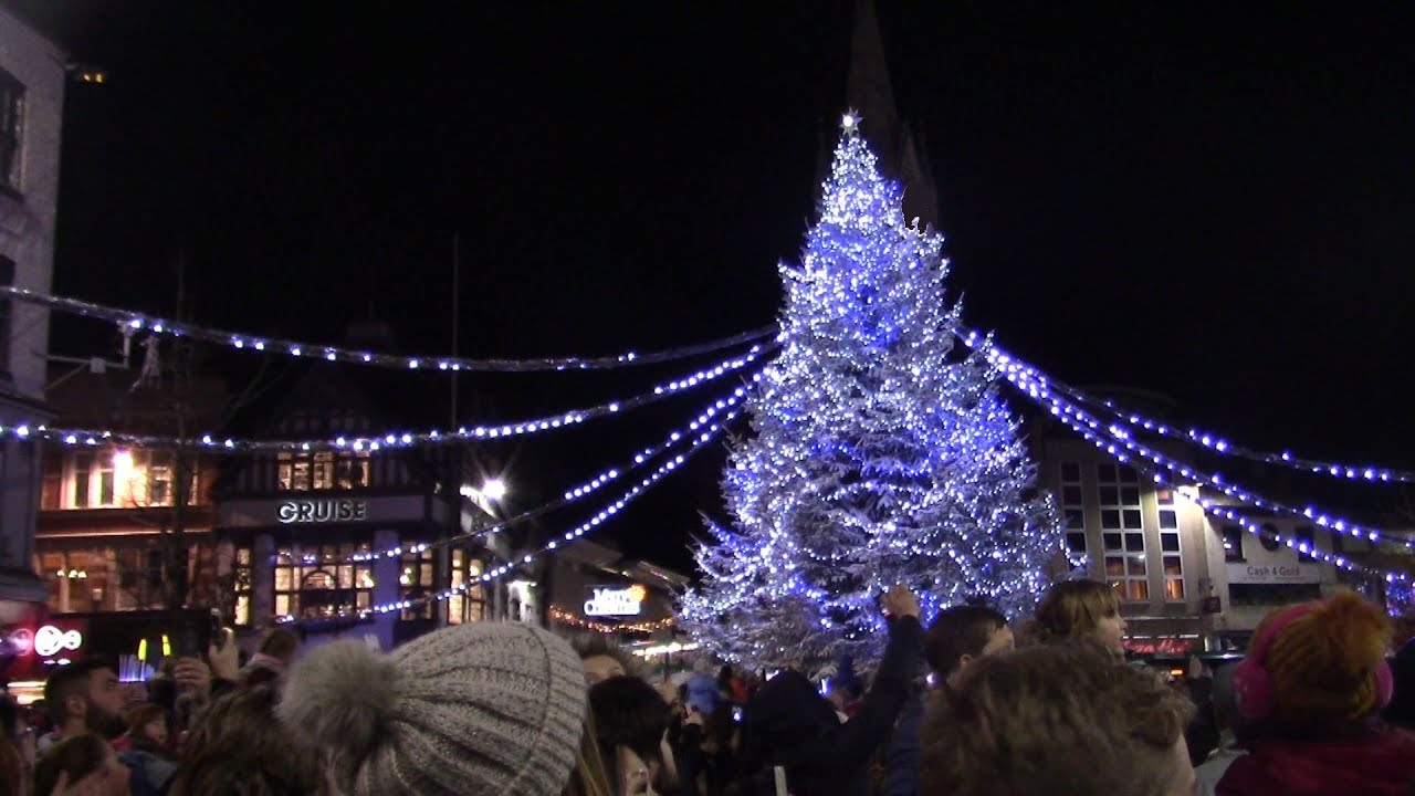 Leicester Christmas Lights Switch On 2017 - YouTube