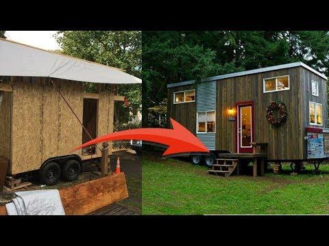 Одинокая малообеспеченная ЖЕНЩИНА построила дом-мечты 18,5 кв. метров