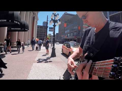 The Six Million Dollar Guitar - Waterfront- Busking Street show May 25/2017