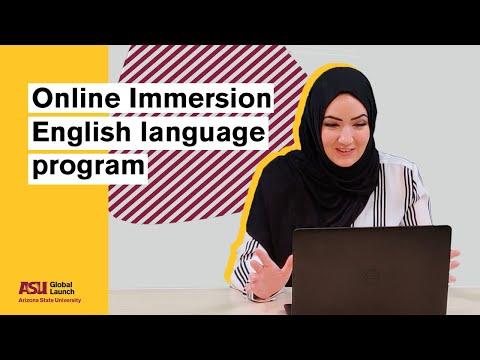 Global Launch: Online Immersion English language program   Arizona State University