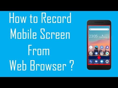 [Hindi] How to record Android Screen from Web browser in PC or Laptop ?