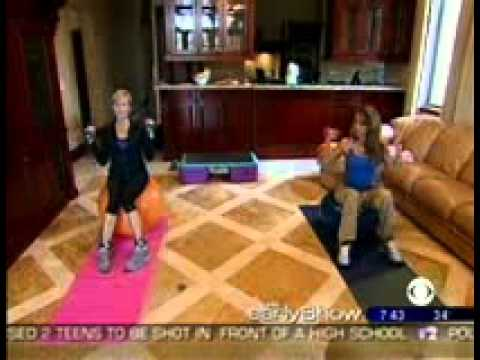 Jennifer Nicole Lee and Fabulously Fit Moms on CBS Early Show