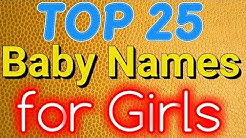 Top 25 Baby Names for Girls 2018