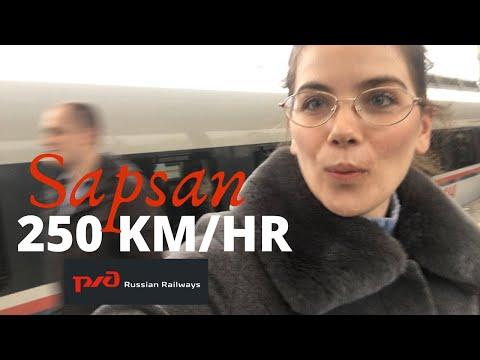 RIDING THE SAPSAN BULLET TRAIN | Moscow - Saint Petersburg (Economy Class)