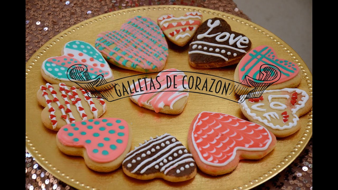 Galletas De Corazon Decoradas Galletas De Corazon Para San Valentin