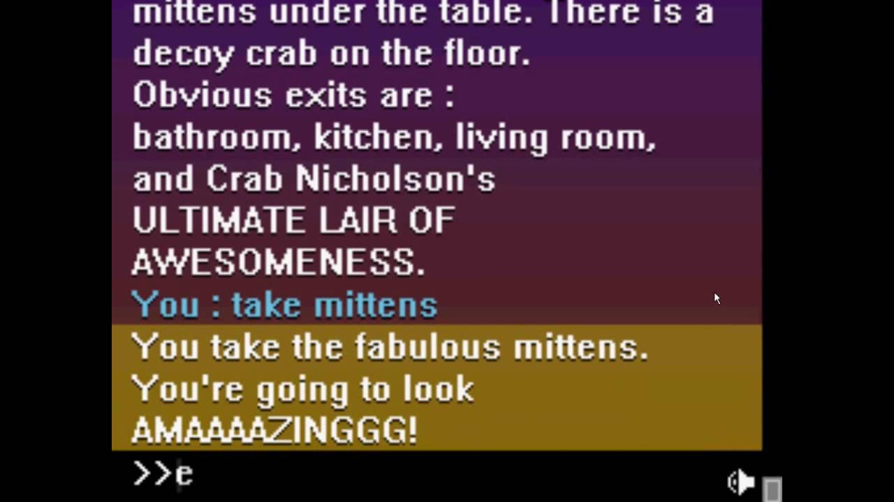 crab nicholson extreme sleepover text adventure