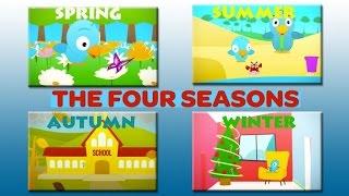 LEARNING THE FOUR SEASONS - LITTLE BIRD for Children, Kids, Babies - 4 Seasons Learning
