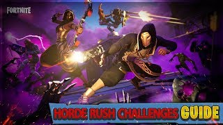 Fortnite Horde Rush LTM Challenges GUIDE und REWARDS