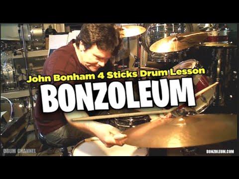 John Bonham FOUR STICKS *DRUMS Led Zeppelin