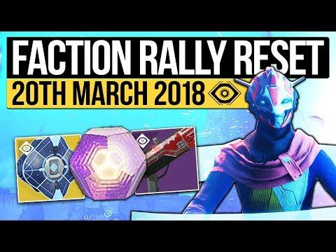 Destiny 2 | WEEKLY RESET & FACTION RALLY! The Nightfall, Milestones, Raids & Eververse (20th March)