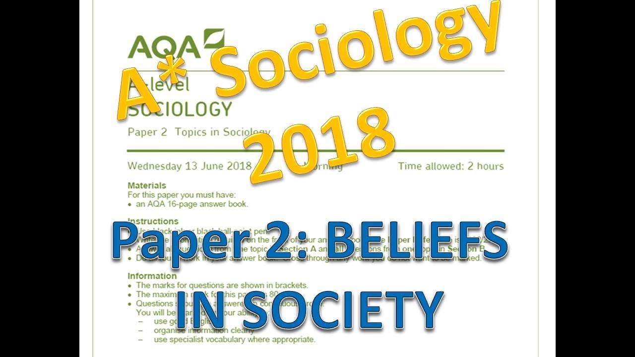 2018: Paper 2 Beliefs in Society section - YouTube