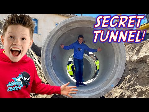 We Built a Secret Tunnel in our Backyard!