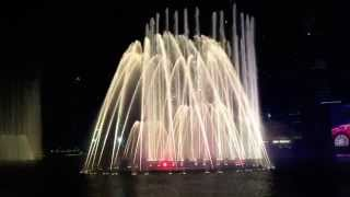 Dubai Fountain - Om Kalthoum Enta Omri (New Year's Eve 2015)
