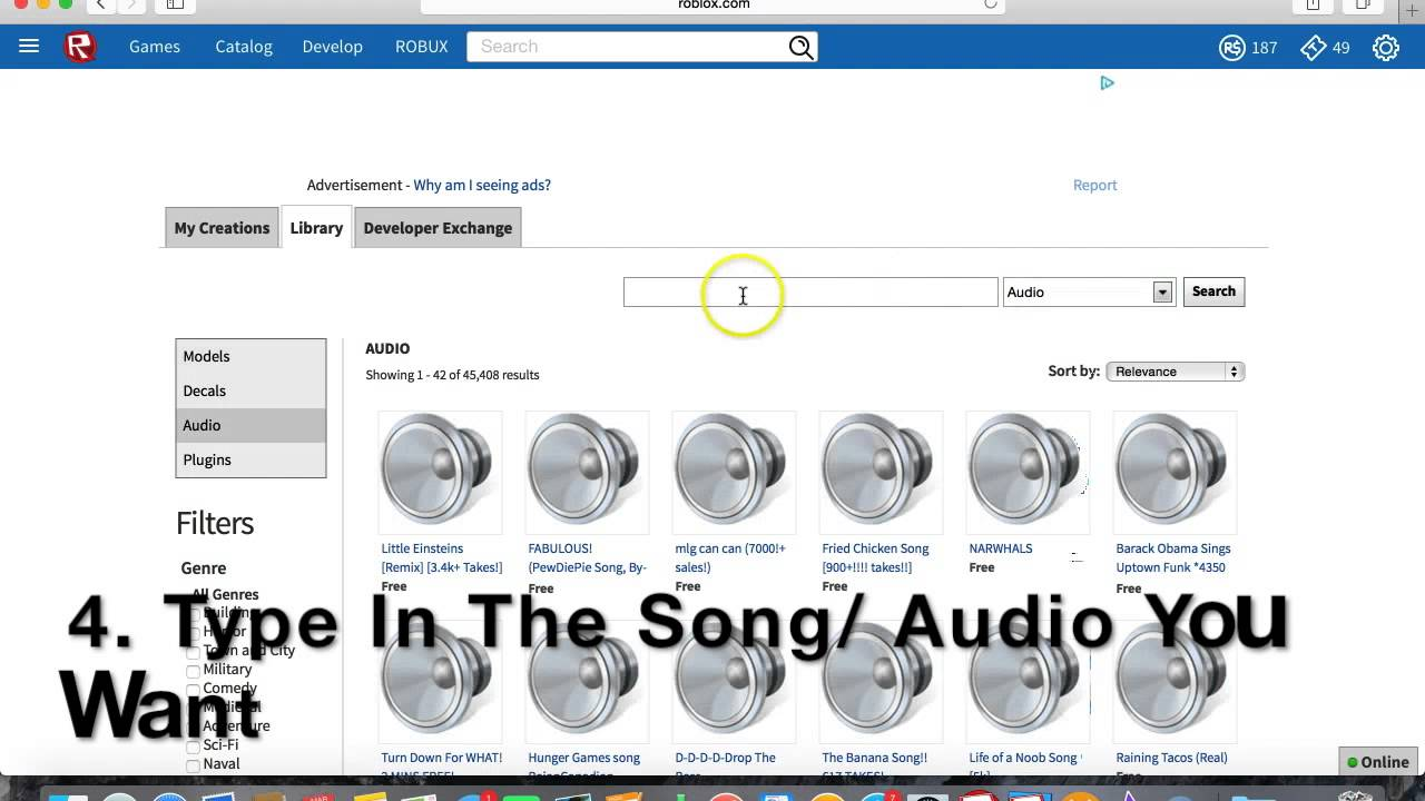 How To Find Music Audio Codes On Roblox Youtube