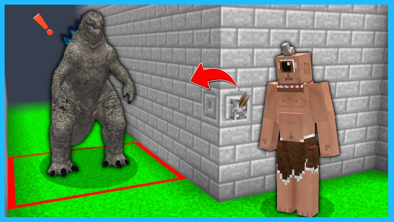 TEPEGÖZ GODZİLLAYA TUZAK KURDU! 😱 - Minecraft