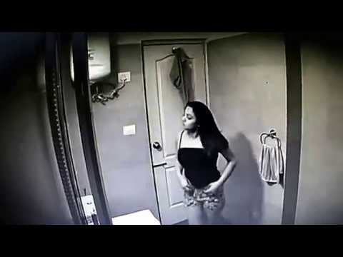 Peek at CCTV Records in the Bathroom