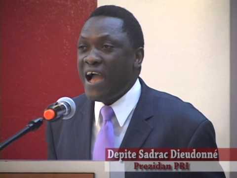 Allocution du Député Sadrac Dieudonné, Président du PRI, dresse un bilan de l'année poster