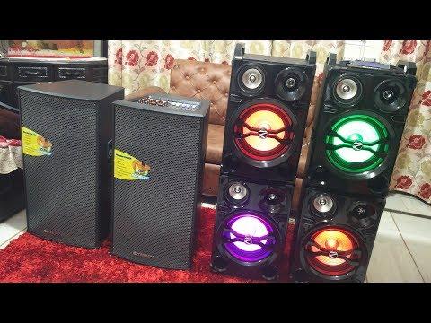 Comparison video of  Zebronics PROX15 and PRO2x10 DJ speaker