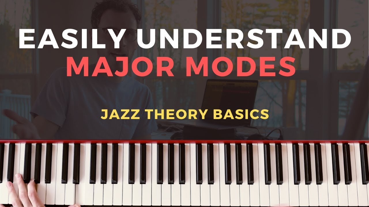 MAJOR MODES EASY TUTORIAL: Ionian, Dorian, Phrygian, Lydian, Mixolydian [MODAL JAZZ PIANO]