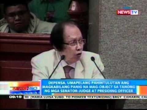 NTG: Enrile, nainis dahil sa magulo   raw na articles of impeachment   ng prosekusyon