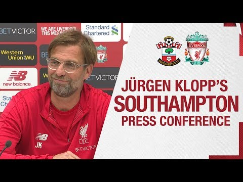 Jürgen Klopp's pre-match press conference | Southampton